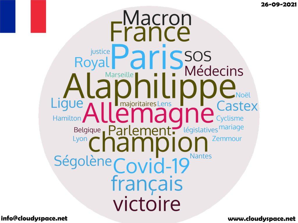 France News Day 26 September 2021