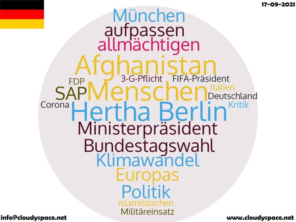 Germany News Day 17 September 2021