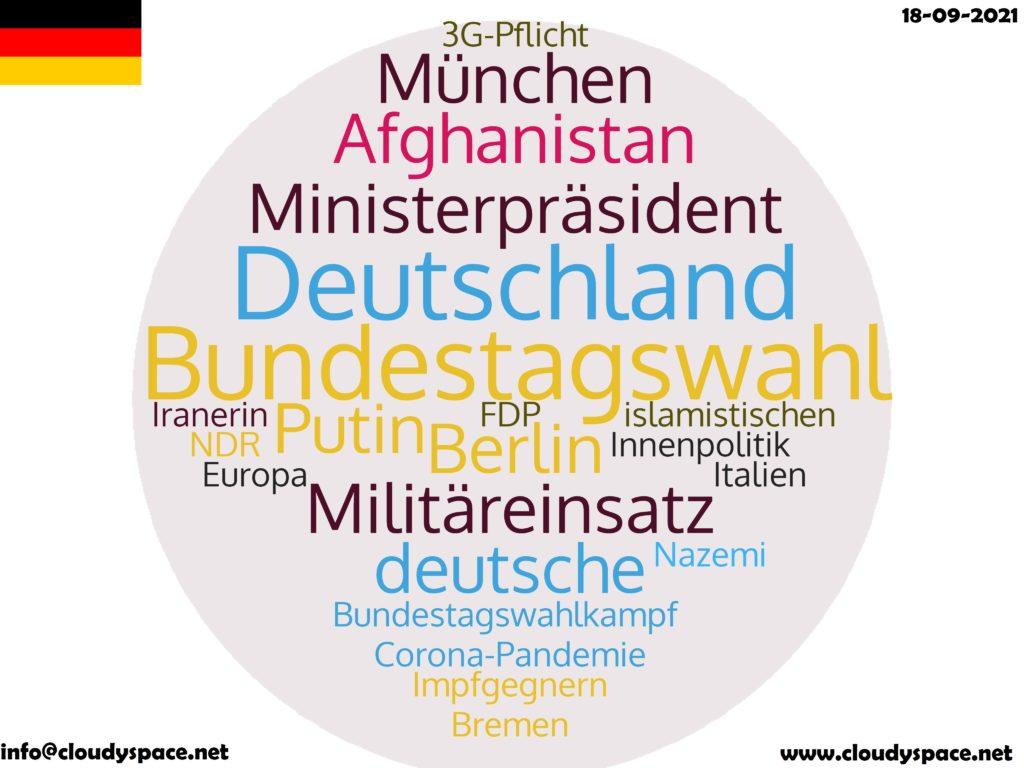Germany News Day 18 September 2021